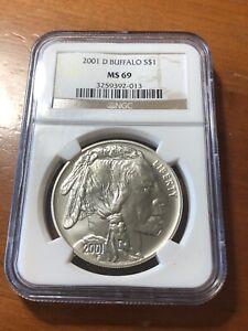 2001-D Buffalo Dollar - NGC MS69