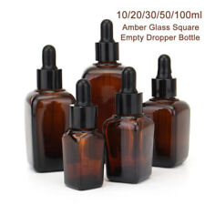 Dropper Bottle With Eye Pipette Empty Amber Essential Oils Bottle Containers