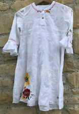 Catimini Embroidered Girls Dress 10 years French Designer