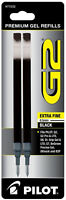 Pilot G2 Premium Gel Refills Black Ink Extra Fine 0.5mm Point 2pk
