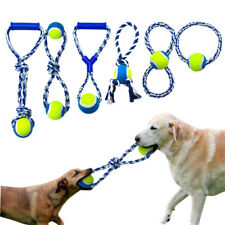 Aggressive Chew Toys for Dogs Braided Cotton Rope Indestructible Ring Tug Ball