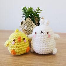 Molang cute Hand made Hand-knitted Doll collaboration - Molang and piupiu set