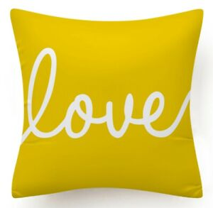 """Yellow Throw PILLOW COVER 2-Sided Gray White Decorative Sofa Cushion Case 18x18"""""""