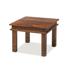 Jali Sheesham 60 cm Chunky Coffee Table Living Room Solid Wood Indian Furniture
