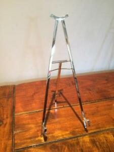 CONTEMPORARY CLASSIC STYLE SOLID BRASS NICKEL BRONZE EASEL DISPLAY PICTURE STAND