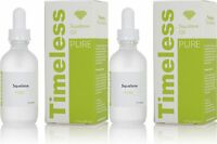 2 x 100% Pure Squalane Oil 2 oz (60 ml) Timeless Skin Care superior moisturizer