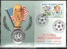 Cook - Inseln Numisbrief Silber (6418 - Fußball -WM 1994) mit der Nr.1403