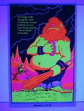 Vintage Blacklight Poster THE MEANEST SOB Psychedelic Mini 17x11 Original NOS