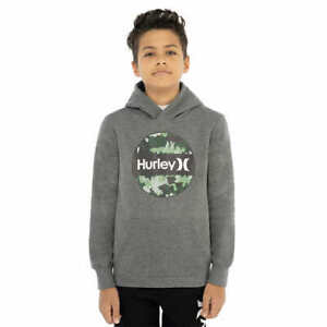 Hurley Boys' Youth Fleece Hoodie - GRAY (Select Size: S-XL) FAST SHIPPING