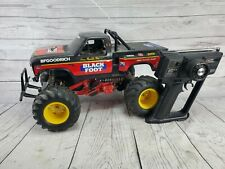 Vintage 1986 Tamiya 1/10 RC BlackFoot Ford F150 Ranger with Remote