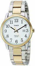 Reloj De Pulsera Reloj Timex Hombre TW2R23500 Fácil Lector De Dos Tonos/Blanco De Acero Inoxidable
