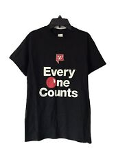 Walgreen's Red Nose Day Employee Team Every One Counts Black T-Shirt Size Small