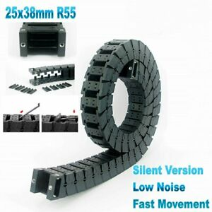 25x38mm R55 Nylon Cable Drag Chain Fast Movement Wire Carrier CNC 3D Printer