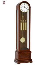 BilliB Vanguard Long Case Grandfather Clock, Westminster Chime in Burl Walnut