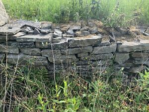 Dry stone walling, reclaimed stones