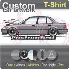 Custom T-shirt 88 1989 90 91 Civic 4 door Sedan Si EF not affiliated with HONDA