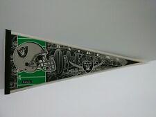 Oakland Raiders Vintage 1990s Team NFL Collectible Felt Pennant FOOTBALL