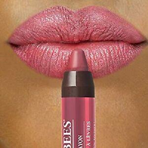 BURT'S BEES # 431 Tahitian Sunset Gloss Lip Crayon 100% Natural Pink/Peach Satin