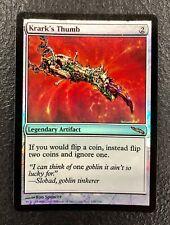KRARK'S THUMB Mirrodin MTG Magic the Gathering Foil Card VLP
