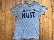 VTG 80's Champion Paper Thin 50/50 Maine Ink Print T Shirt Blend Heather Sz M