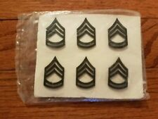 Us Army Sergeant 1st Class Sfc E-7 Pin-On subdued Rank 6-pack Nsn 8455001070090