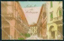 Cuneo Saluzzo Saluti da foto cartolina QK9164