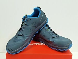 ALTRA LONE PEAK 5 Men's TRAIL Running Shoes Size 10.5 (Blue/Lime) USED