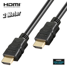HIGH SPEED HDMI KABEL mit ETHERNET, 3D, Full HD, vergoldet, hochwertig - 2.0 m