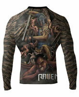 Raven Fightwear Men's Archangel MMA BJJ Rash Guard Black