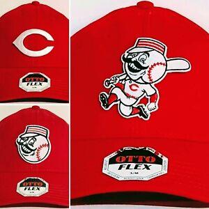 "Cincinnati Reds ""FLEX FIT"" CAP ⚾️HAT ⚾️CLASSIC MLB PATCH/LOGO ⚾️S/M or L/XL ⚾NEW"