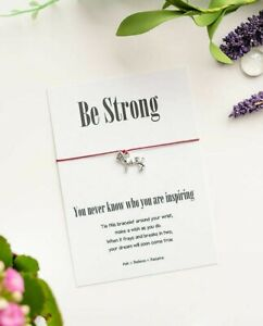 Lion Wish String Bracelet -  Be strong, You never know who you are inspiring