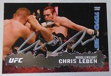 Chris Leben Signed UFC 2009 Topps Card #38 Autograph The Ultimate Fighter 1 132