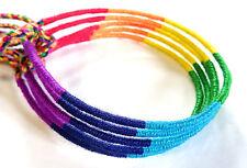 Lot de 5 Bracelet Brésilien Amitié Porte Bonheur Coton rainbow rouge vert bleu