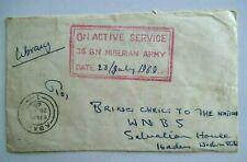 Postal History, Nigeria, Biafran War, Military Mail, 1969, Excellent