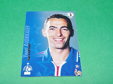 YOURI DJORKAEFF EQUIPE FRANCE BLEUS PANINI FOOTBALL CARD 2002