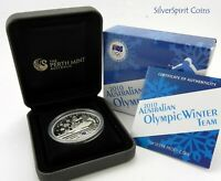 2010 WINTER OLYMPIC TEAM Silver Proof Coin