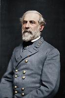 Large 12x18 Robert E Lee Confederate Army General Portrait Canvas Art Print