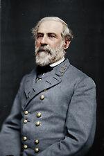 12x18 Robert E Lee Confederate Army General Portrait Canvas Fine Art Print