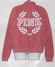 Victoria's Secret Pink Full Zip Bomber Jacket Soft Begonia Medium (M) NWT