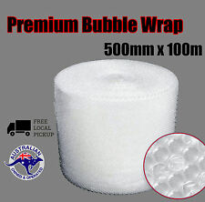 500mm x 100M Clear Bubble Wrap Roll P10 10mm Bubbles Packing Material Mel Stock