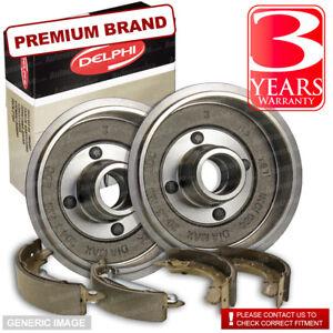 Rear Delphi Brake Shoes + Brake Drums 203mm Ford Escort 1.6 1.6 16V XR3i