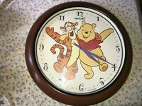 "HUGE! WALT DISNEY FANTASMA WINNIE THE POOH & TIGGER 24"" WALL CLOCK Tested Works"