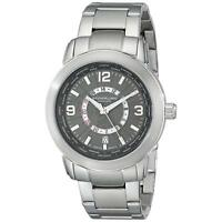 Stuhrling Renegade 654 Men's 42mm Silver Steel Bracelet & Case Date Watch 654.02