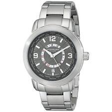 Stuhrling Renegade 654 Men's 42mm Silver Steel Bracelet & Case Date Watch 654.02