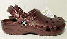 NEW - CROCS Original CLASSIC Clogs Metallic Burgandy Shoes sandals size M6, W8