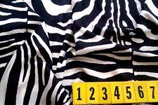 Stretch Poly Fabric Animal Print Black / White Zebra - 150cm Wide  - New by Dcf