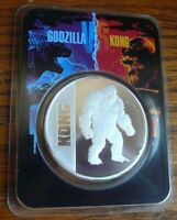 """2021 """"Kong"""" 1 oz .999 Silver Round Coin BU in TEP Tamper Evident Packaging"""