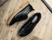 New Brogue Lace up Casual Office Formal Dress Shoes Mens London Leather Shoes SZ