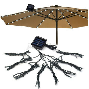72LED Solar Umbrella String Light Waterproof Outdoor Festive Fairy Patio Light