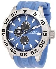 Nautica Mens N15607G BFD 100 Multifunction 50mm Stainless Steel Case Wrist Watch